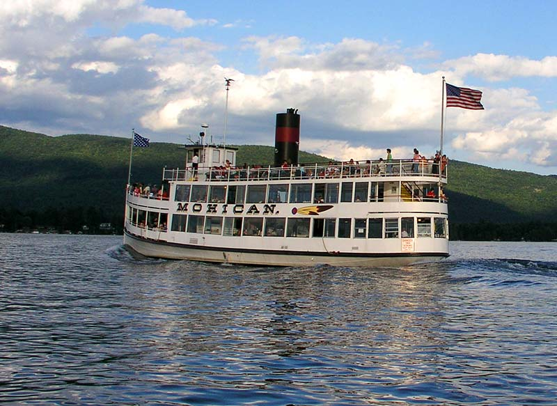 The Mohican steam boat on Lake George