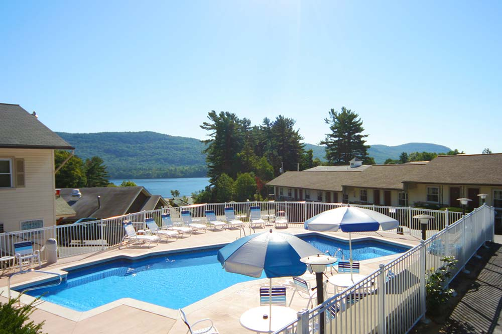 Pool overlooking Lake George