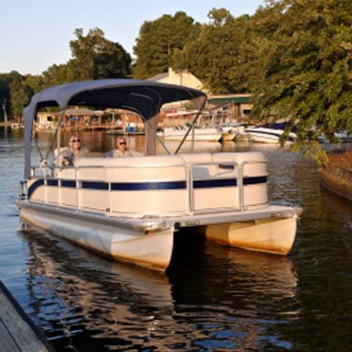 Lake George pontoon boat